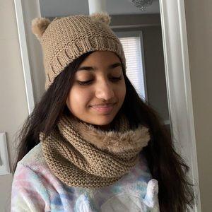 Zara hat & neck warmer for girls